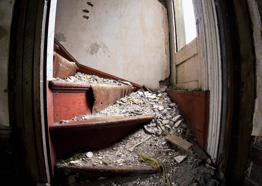 Decay Photograph - Abandoned Stairs by Cale Best