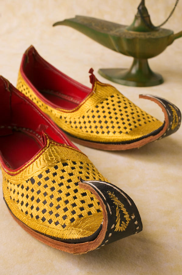 Magic Lamp Photograph - Abarian Shoes by Garry Gay