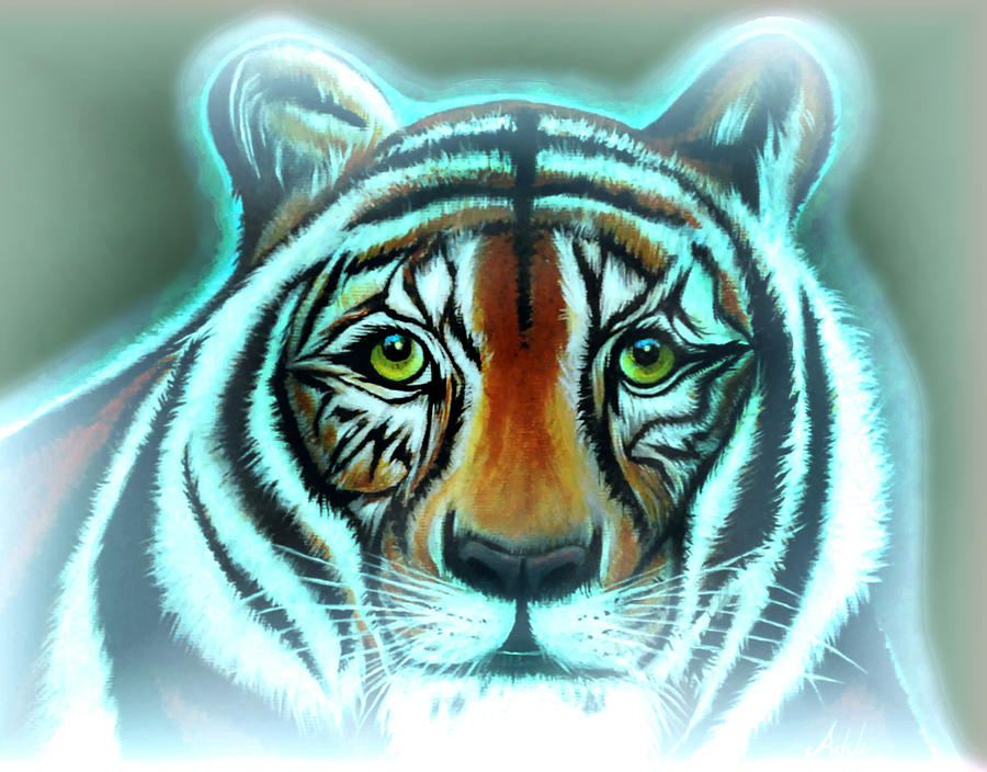 Tiger Painting - Abbagails Haunt by Adele Moscaritolo