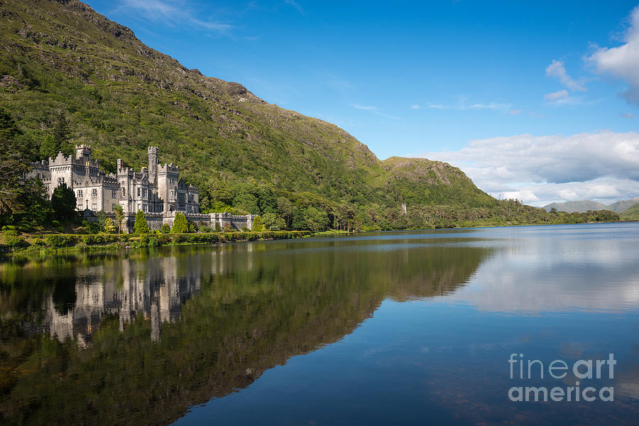 Galway Photograph - Abbey On The Lake by Andrew  Michael