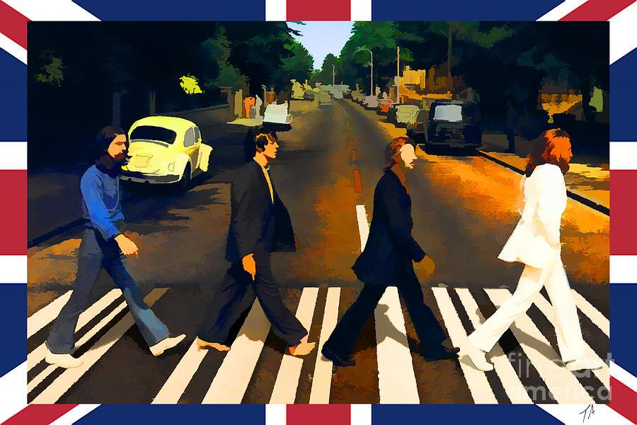 Beatles Digital Art - Abbey Road by Tommy Anderson