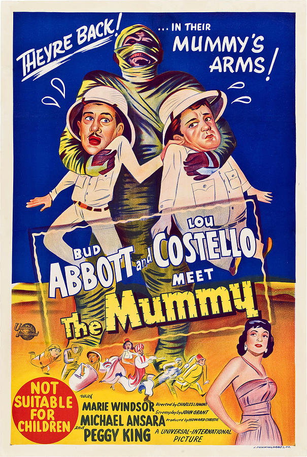 1955 Movies Photograph - Abbott And Costello Meet The Mummy by Everett