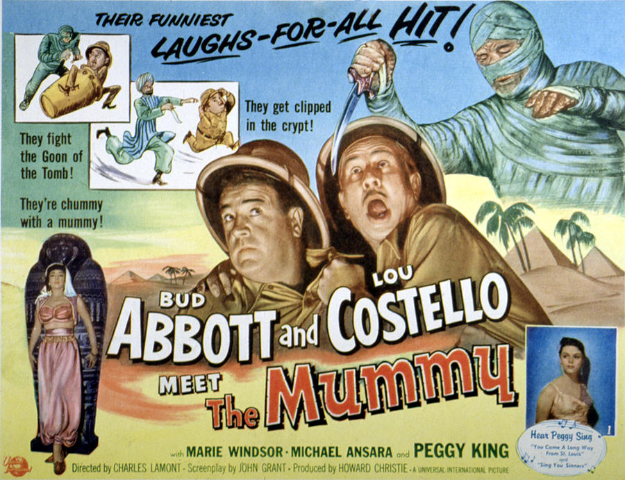 1955 Movies Photograph - Abbott And Costello Meet The Mummy, Lou by Everett