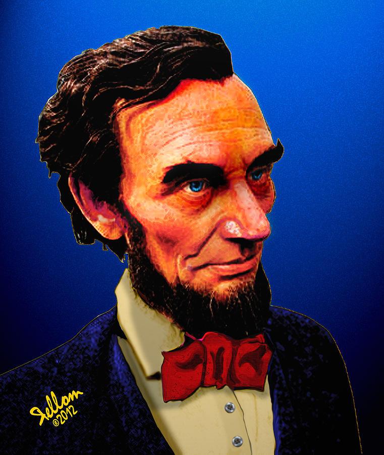 Abraham Lincoln Digital Art - Abe Lincoln Blue by Che Rellom