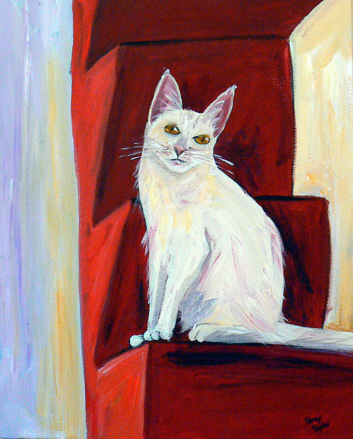 Cat Painting - Abigail by Terry Taylor