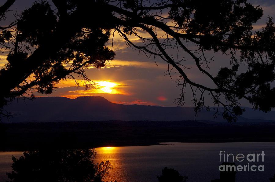 Abiquiu Sunset Photograph by Vicki Pelham