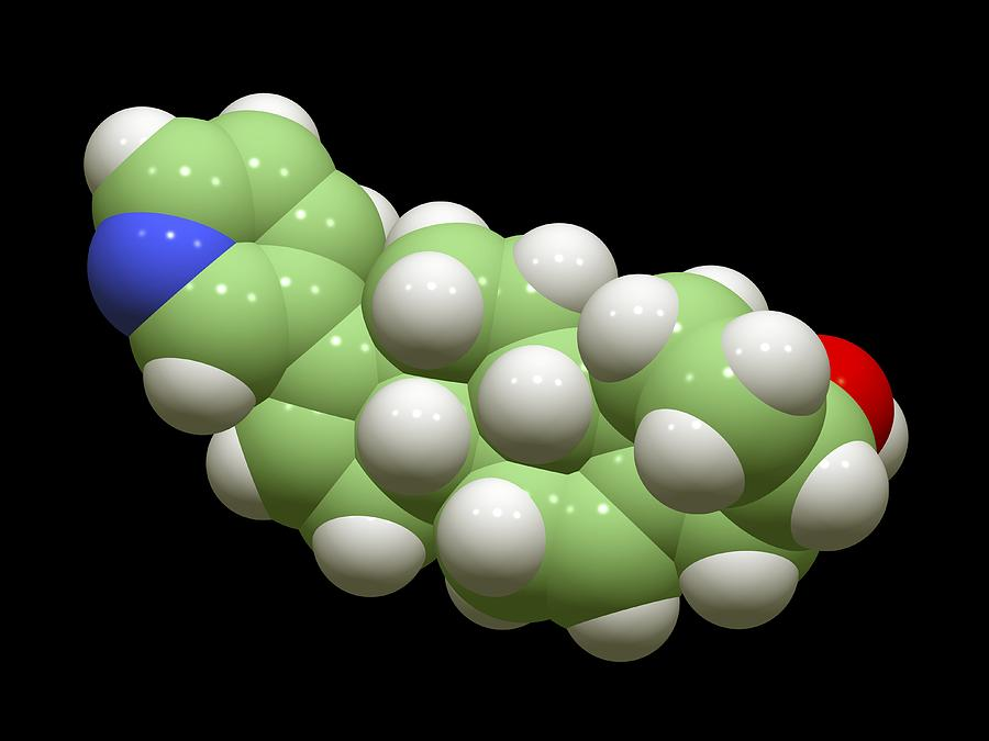 Abiraterone Photograph - Abiraterone Prostate Cancer Drug Molecule by Dr Tim Evans