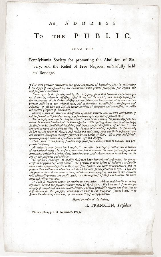 History Photograph - Abolitionist Address By Benjamin by Everett