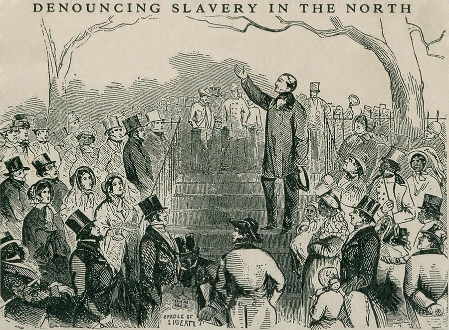 History Photograph - Abolitionist Wendell Phillips Speaking by Everett