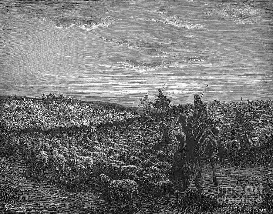 19th Century Photograph - Abraham Entering Canaan by Granger