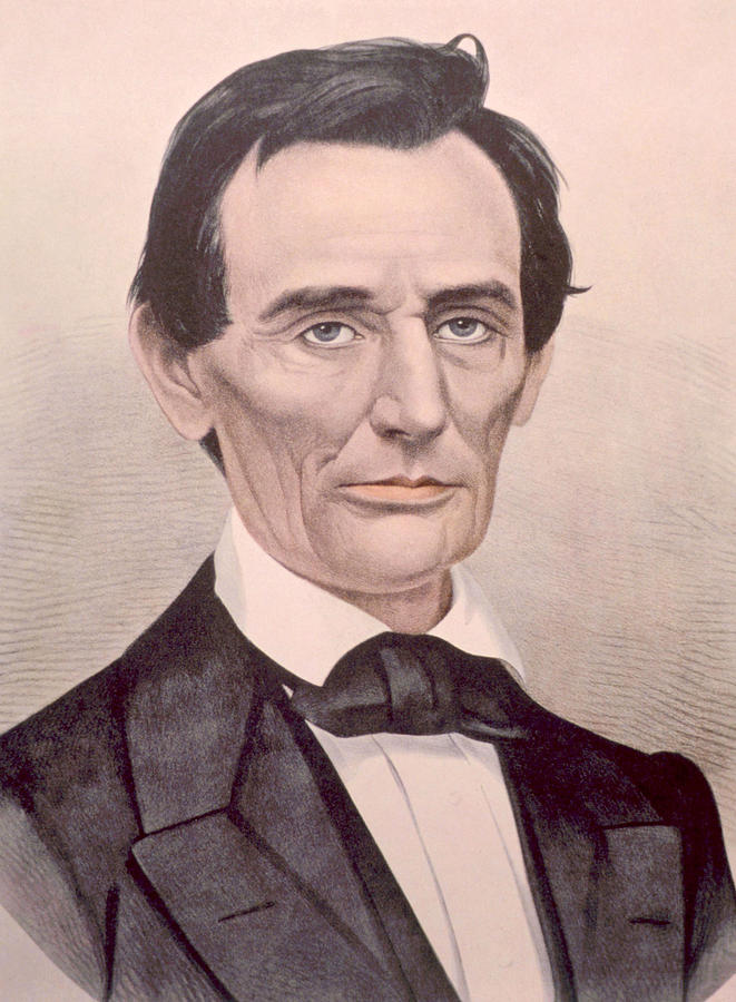 Currier & Ives Photograph - Abraham Lincoln 1808-1865, U.s by Everett