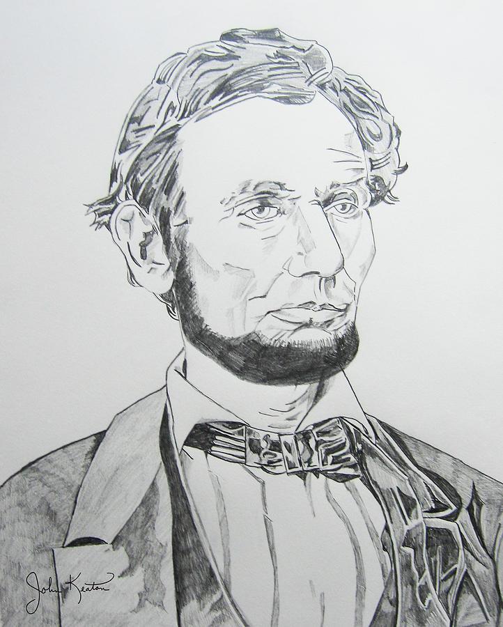 Abraham Lincoln Drawing - Abraham Lincoln by John Keaton