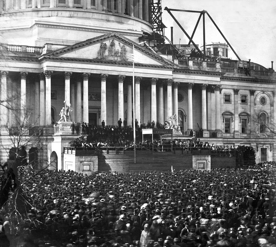 Abraham Photograph - Abraham Lincolns First Inauguration - March 4 1861 by International  Images