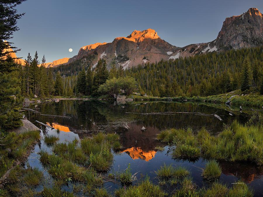 Absaroka Range Photograph - Absaroka Range Reflection by Leland D Howard