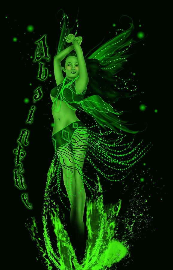 Absinthe Green Fairy Digital Art By Ava Vongoth
