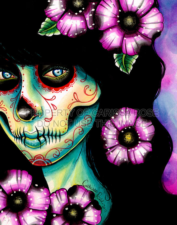 Day Of The Dead Painting - Absolution by Carissa Rose Stevens