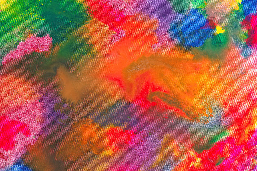 Abstract Photograph - Abstract - Crayon - Melody by Mike Savad