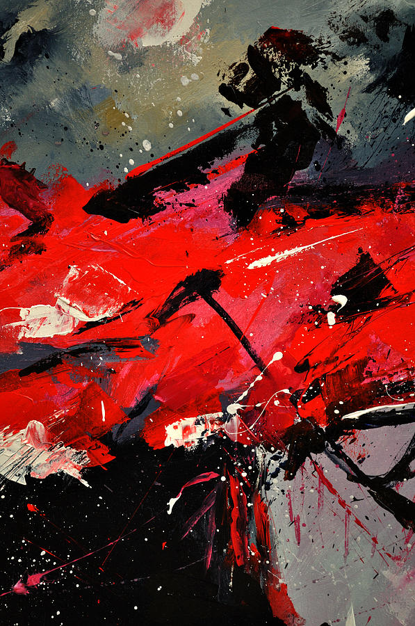 Abstract Painting - Abstract 71002 by Pol Ledent