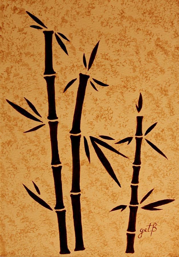 Acrylic Bamboo Painting