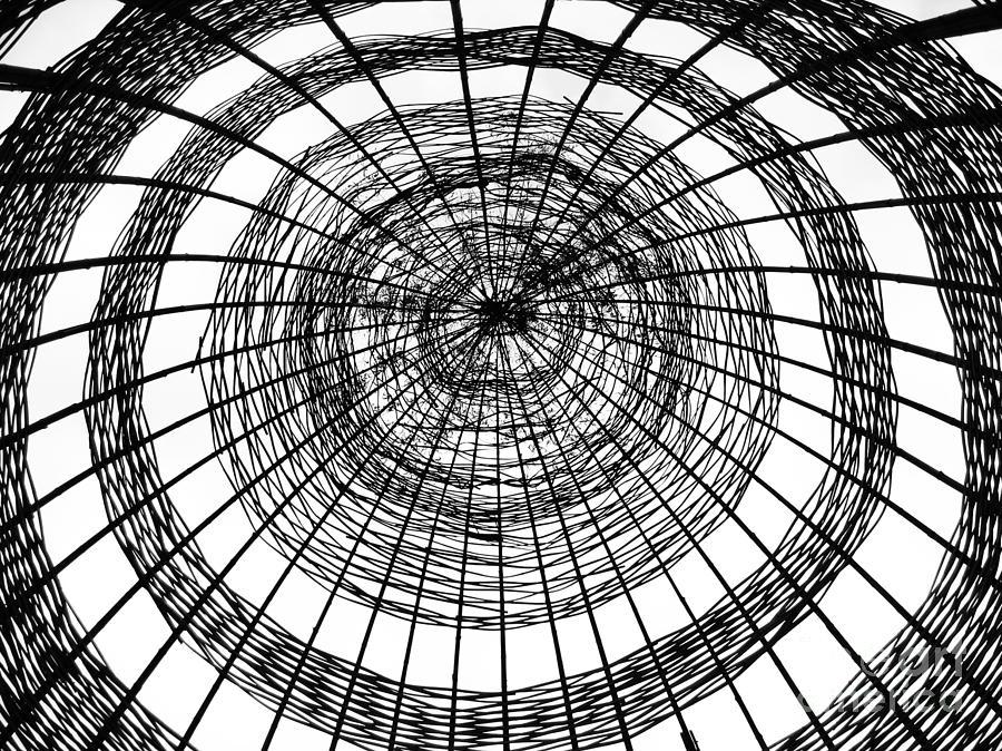 Asia Photograph - Abstract Bamboo Construction by Yali Shi