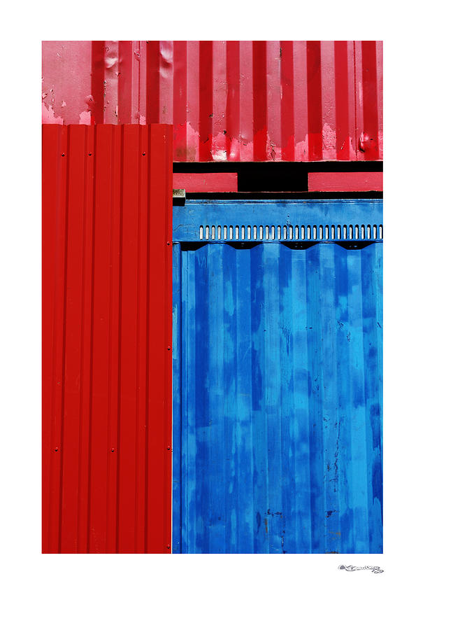 Abstract Red Photograph - Abstract Construction by Xoanxo Cespon