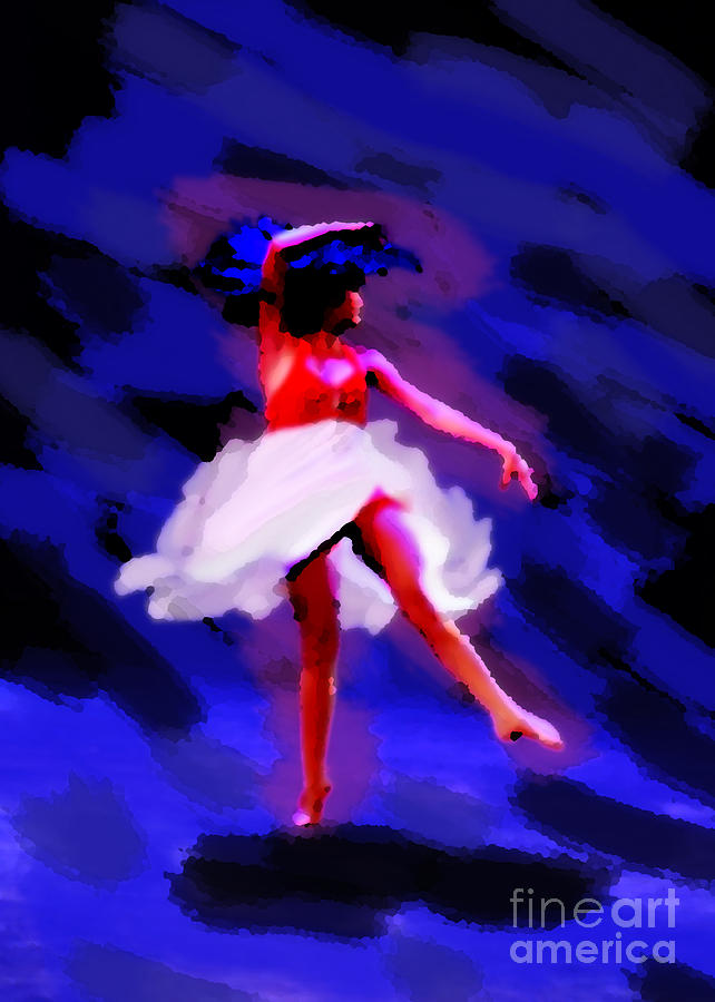 Woman Photograph - Abstract Dancer by Val Armstrong