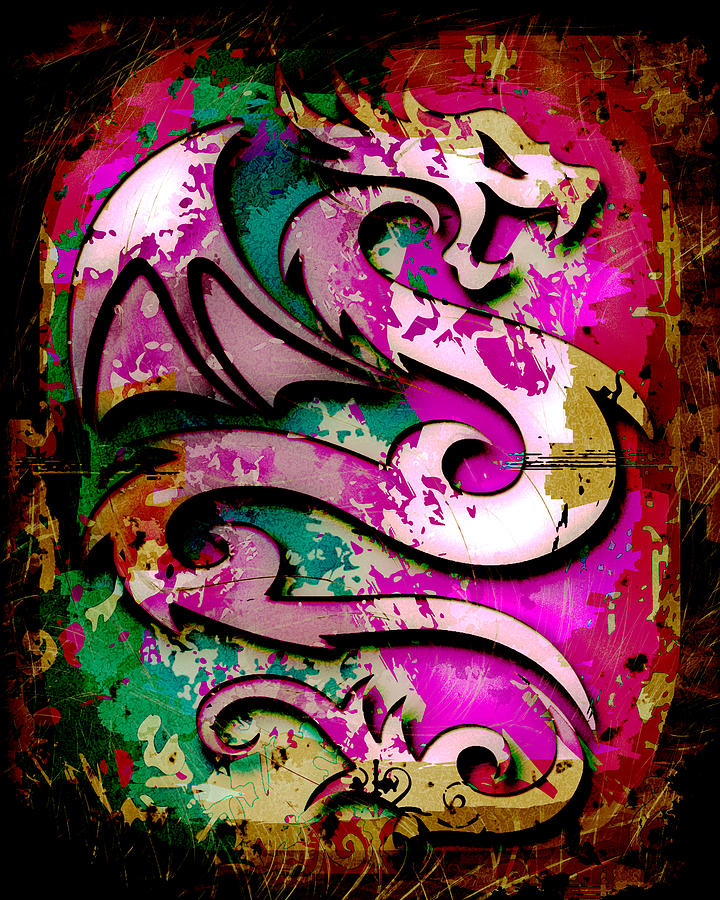 Dragon Photograph - Abstract Dragon by David G Paul
