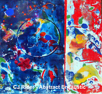 Encaustic Painting - Abstract Encaustic by CJ  Rider