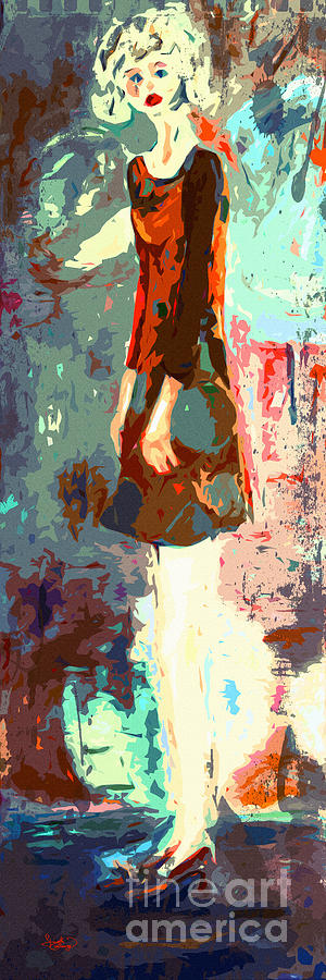 Abstract Painting - Abstract Figure The Odd Girl By Ginette by Ginette Callaway