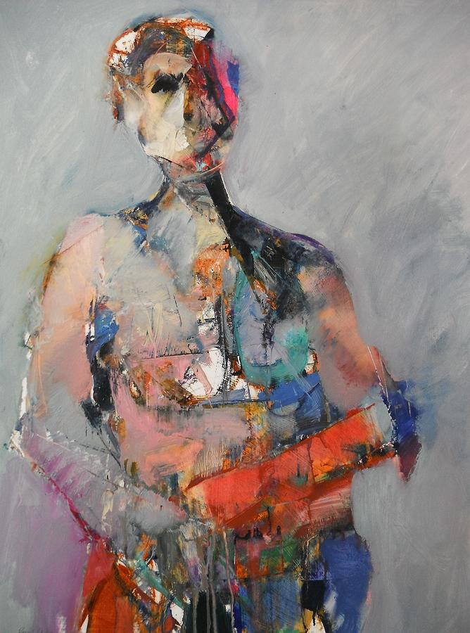 Abstract Figure With Pink Painting By Dan Boylan