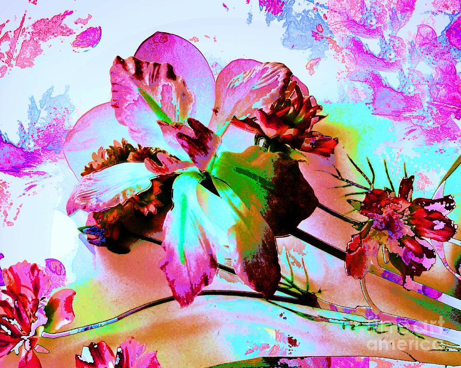 Flower Digital Art - Abstract Flower Number Five by Doris Wood