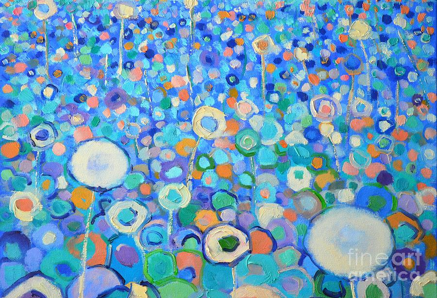 Abstract Painting - Abstract Flowers Field by Ana Maria Edulescu