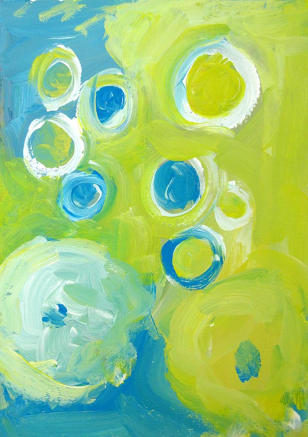 Abstract Circles Painting - Abstract IIII by Patricia Awapara