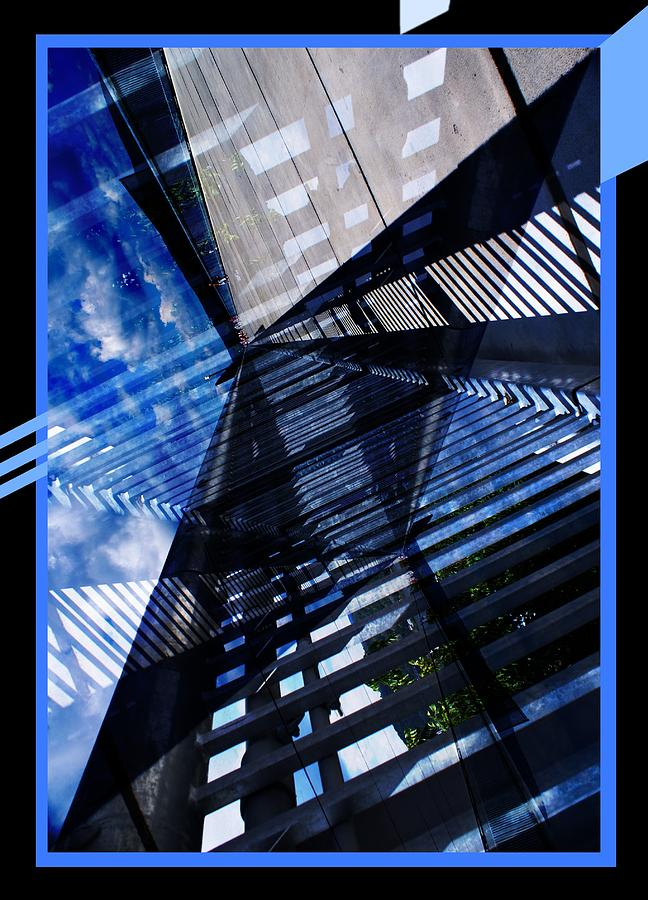 Abstract Digital Art - Abstract In Blue And Cement by Matthew Green