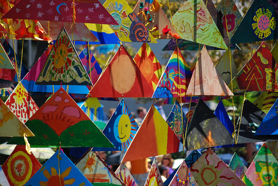 Triangles Photograph - Abstract In Triangles by Peggy Zachariou