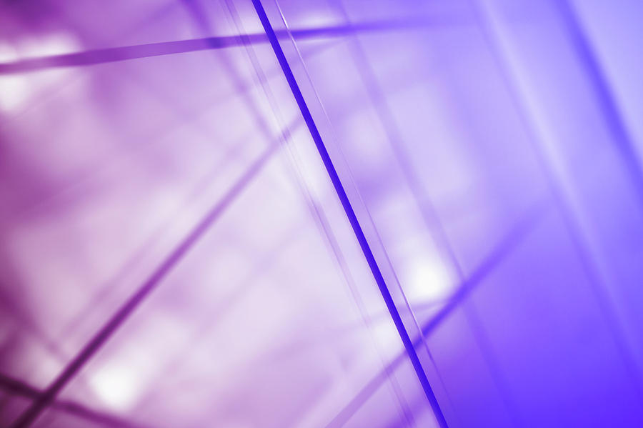 Horizontal Photograph - Abstract Intersecting Lines On A Glass Surface by Ralf Hiemisch