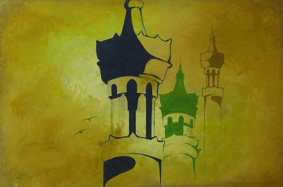 Abstract Painting - Abstract Islam by Salwa  Najm