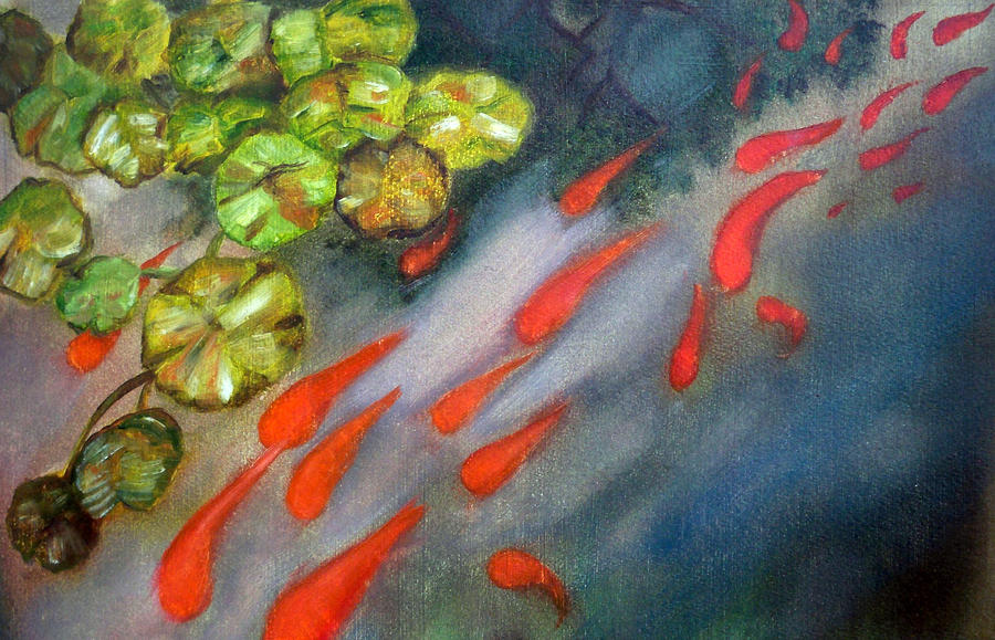 Koi Painting - Abstract Koi by Ann Marie Napoli