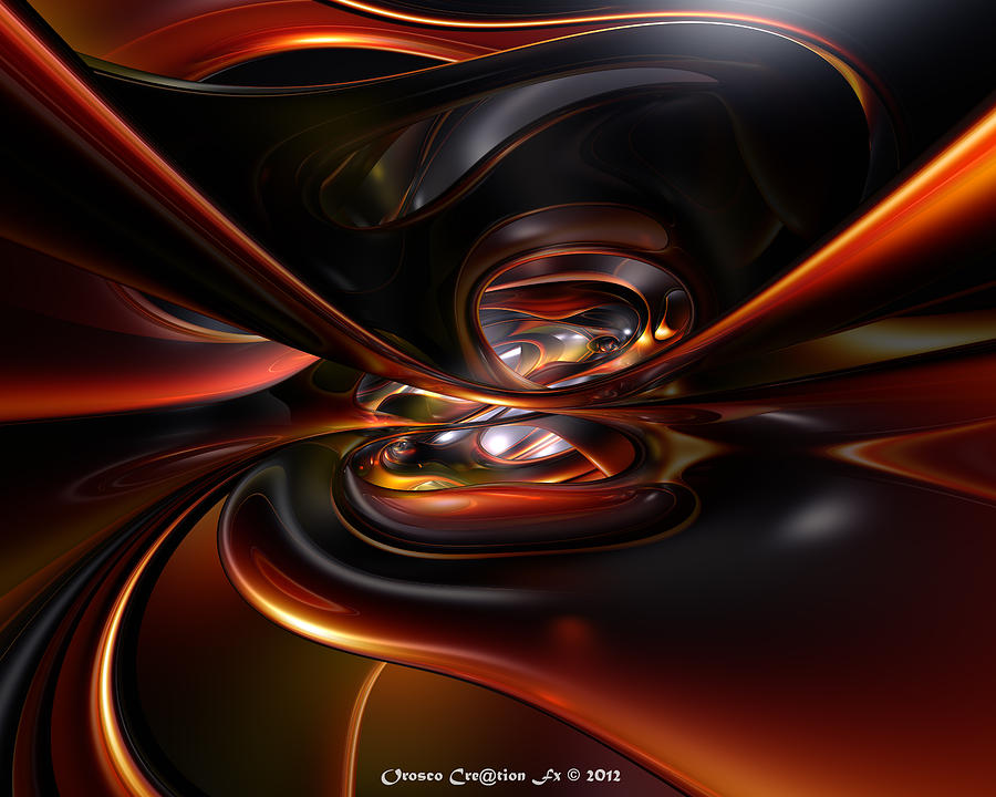 Print Digital Art - Abstract Lava Flow Fx  by G Adam Orosco
