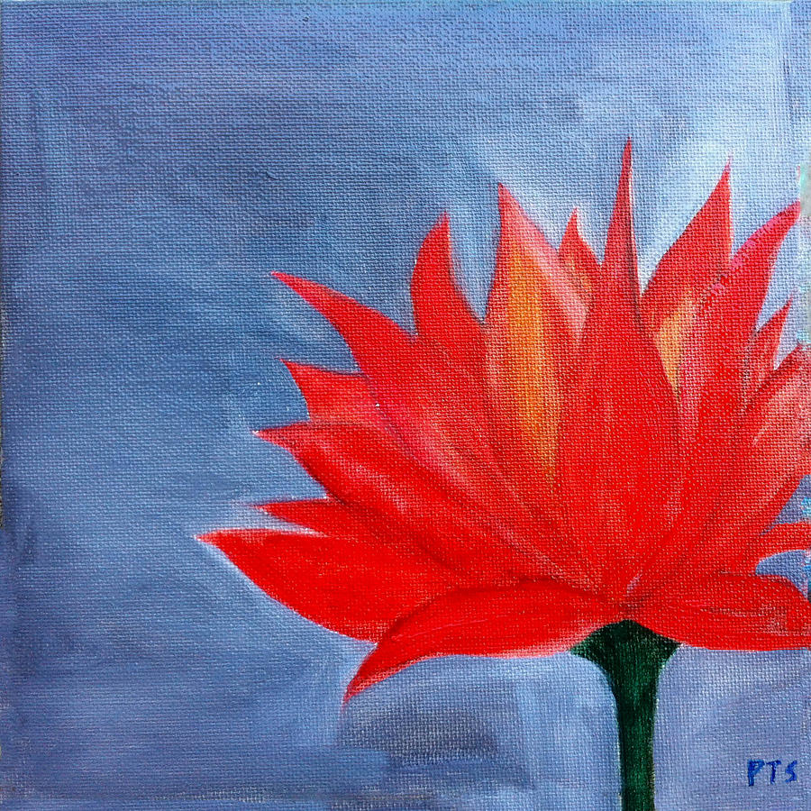 Lotus Painting - Abstract Lotus by Prachi  Shah