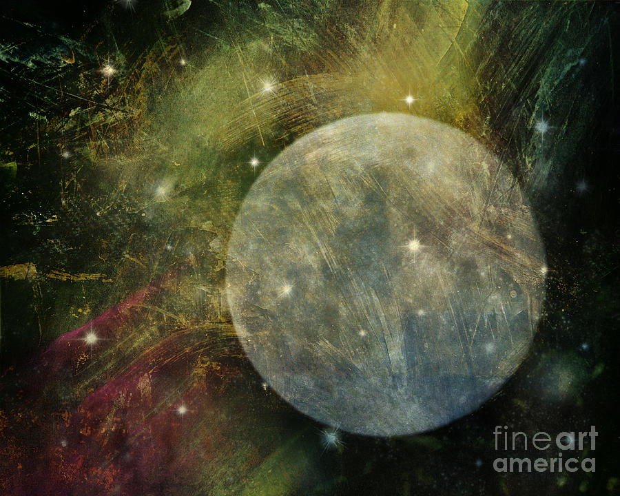 Moon Photograph - Abstract Moon by Billie-Jo Miller