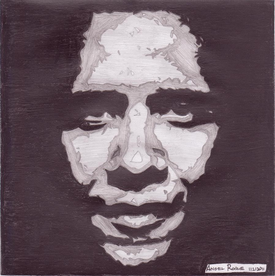 President Barack Obama Drawing - Abstract Obama by Angel Roque
