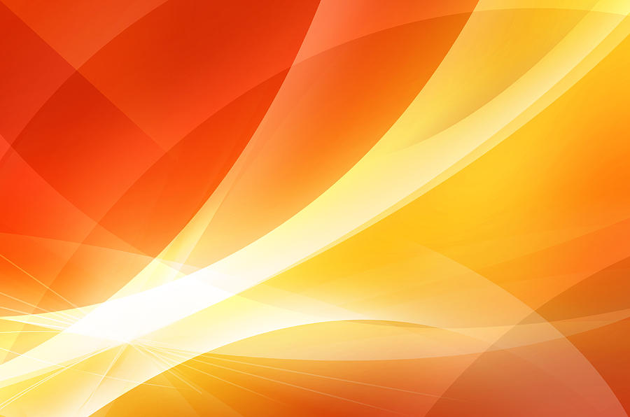 Abstract Orange And Red Background Digital Art by Nattapon Wongwean