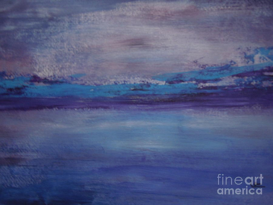 Abstract Peaceful Sea Painting By Lam Lam