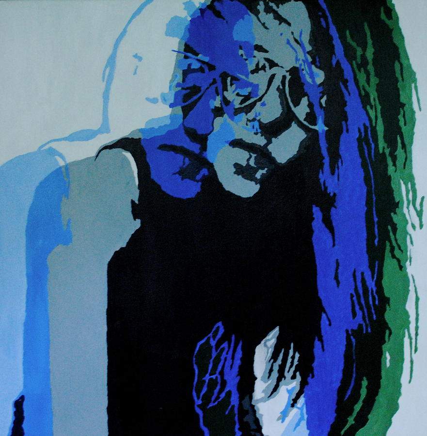 Girl Painting - Abstract Portrait 1 by Kelly S