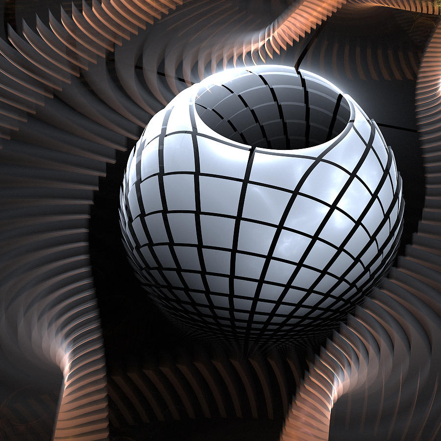 3d Digital Art - Abstract Pot And Waves  by Kim French