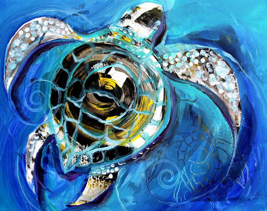 Abstract Turtle Artwork