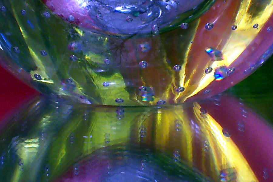 Glass Photograph - Abstract Series 4 No.4 by B L Hickman
