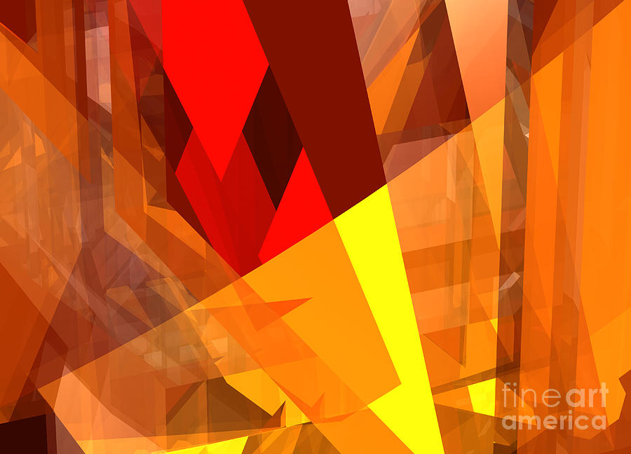 Abstract Digital Art - Abstract Sine L 17 by Russell Kightley