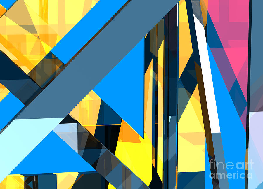 Abstract Digital Art - Abstract Sine L 18 by Russell Kightley
